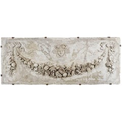 19th Century Neoclassical French Stucco Architectural Panel