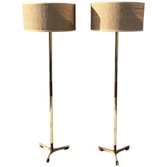 Pair of Jo Hammerborg President Floor Lamps for Fog and Mørup