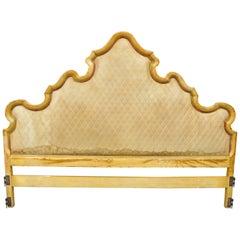 John Widdicomb Hollywood Regency French Provincial Upholstered Bed Headboard Vtg