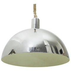Chromed Pendant Lamp Model AM-AS, Franco Albini for Sirrah, 1960s