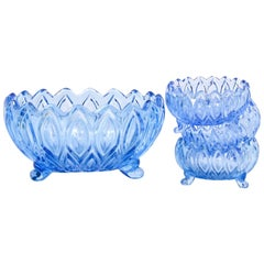 Set of Vintage Glass Serving Bowls
