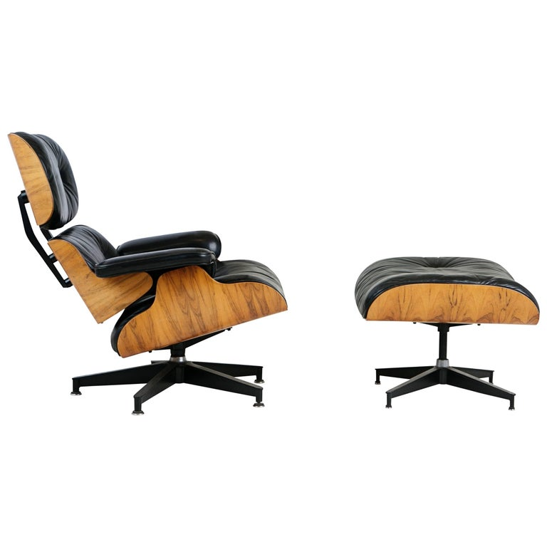 Charles & Ray Eames Lounge Chair and Ottoman for Herman Miller, circa 1980