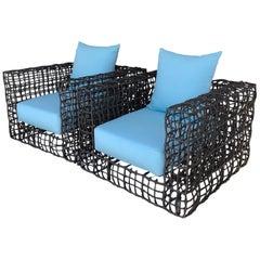 Pair of Janus Et Cie Yin & Yang Easy Lounge Chairs