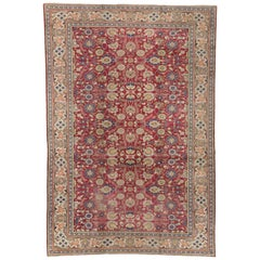 Antique Turkish Sivas Rug with All-Over Floral Motif