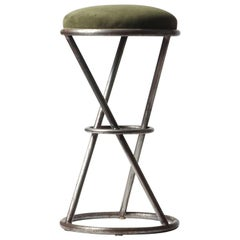 Large Scale Chareau Inspired Tubular Steel Bar Stools