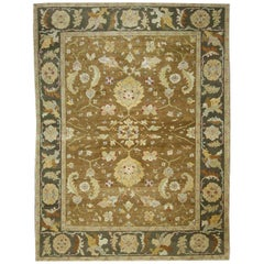 Vintage Turkish Oushak Area Rug with Modern Style in Warm Colors