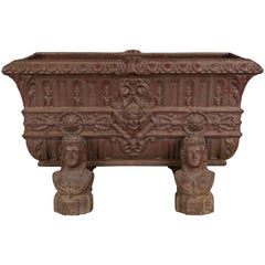 19th Century, French Cast Iron Planter
