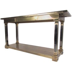 Regency Style Mastercraft Console Table in Brass