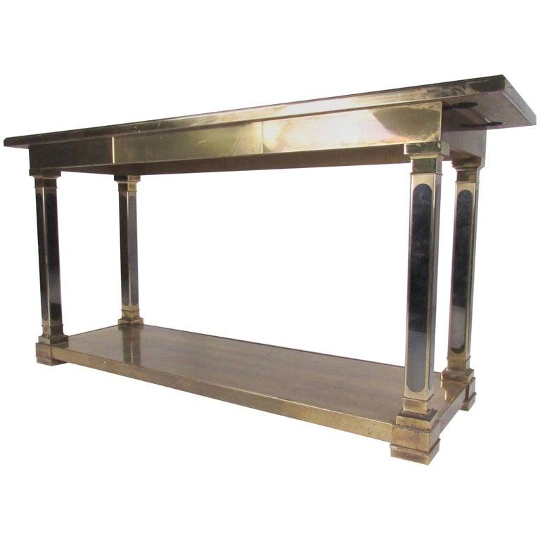 Regency Style Mastercraft Console Table in Brass