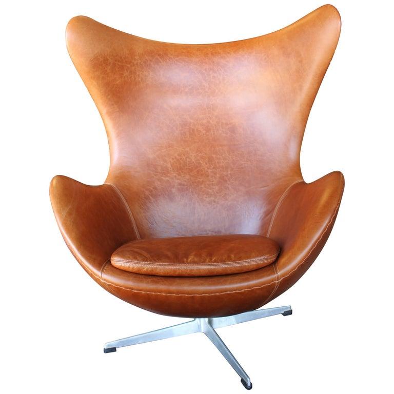 Vintage Arne Jacobsen Egg Chair Fritz Hansen