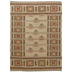 Vintage Swedish Flat-Weave Rug