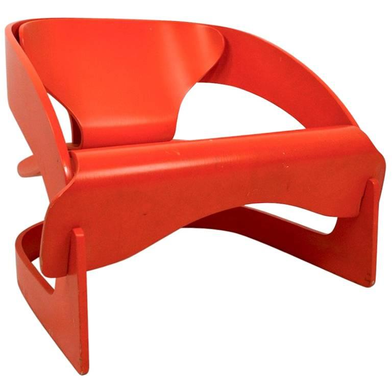 Joe Colombo 4801 for Kartell Lounge Chair For Sale
