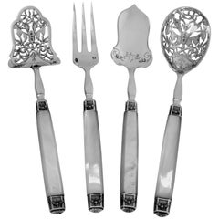 Cardeilhac French Sterling Silver & Mother-of-pearl Dessert Hors D'Oeuvre Set