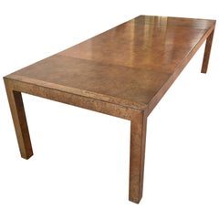 Olive Ash Burl Parsons Dining Table by John Widdicomb