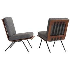 Pair of Franco Campo & Carlo Graffi Lounge Chairs, circa 1960