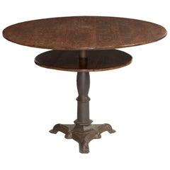 Oak and Cast Iron Centre Table, circa 1890