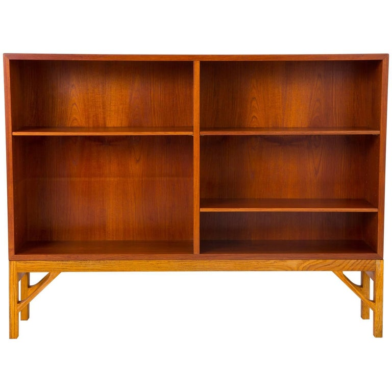 Danish Modern Bookcase in Teak and Oak by Børge Mogensen