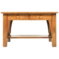 Solid Oak Arts & Crafts Desk