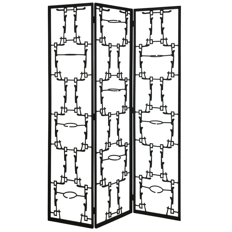 Mid-Century Modern Brutalist Abstract Room Divider Screen