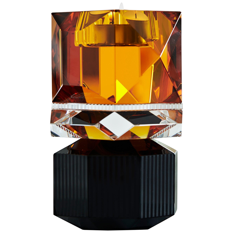 Dakota Crystal Candle Holder Handsculpted Contemporary Crystal