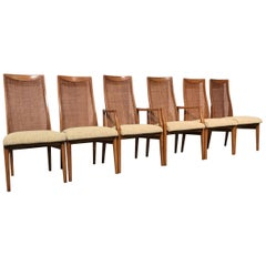 Six Quality Mid-Century Modern Dining Chairs by Heritage Furniture