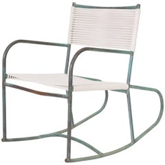 Early Model Walter Lamb Patio Rocking Chair