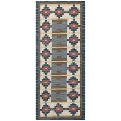 Vintage Swedish Flat-Weave Rug by Ida Rydelius