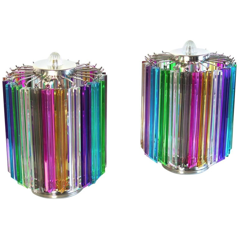 Multicolor Quadriedri Table Lamp, Mariangela Model