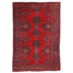 Vintage Turkish Oushak Rug, Red Turkish Oushak Area Rug