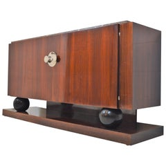 Jacques Adnet Sideboard in Rosewood, 1930