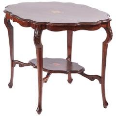 Unusual Edwardian Inlaid Mahogany Centre Table