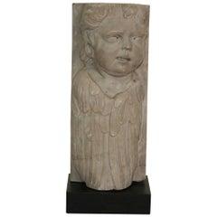 Italian 18th Century Baroque Marble Angel Fragment