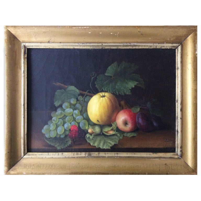 Still Life with Fruits, 1840 For Sale