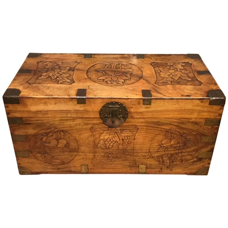 19th Century Chinese Export Camphor Trunk