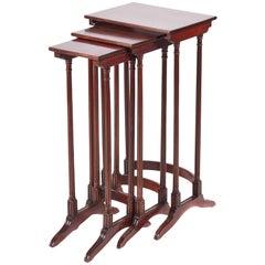 Quality Antique Mahogany Nest of Three Tables