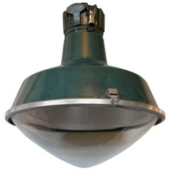 Large Industrial Platform Light from SNCF 'French Rail'