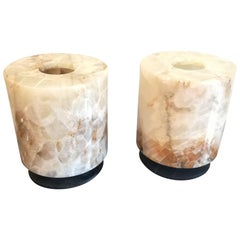 Gorgeous Rock Crystal Pair of Lamps