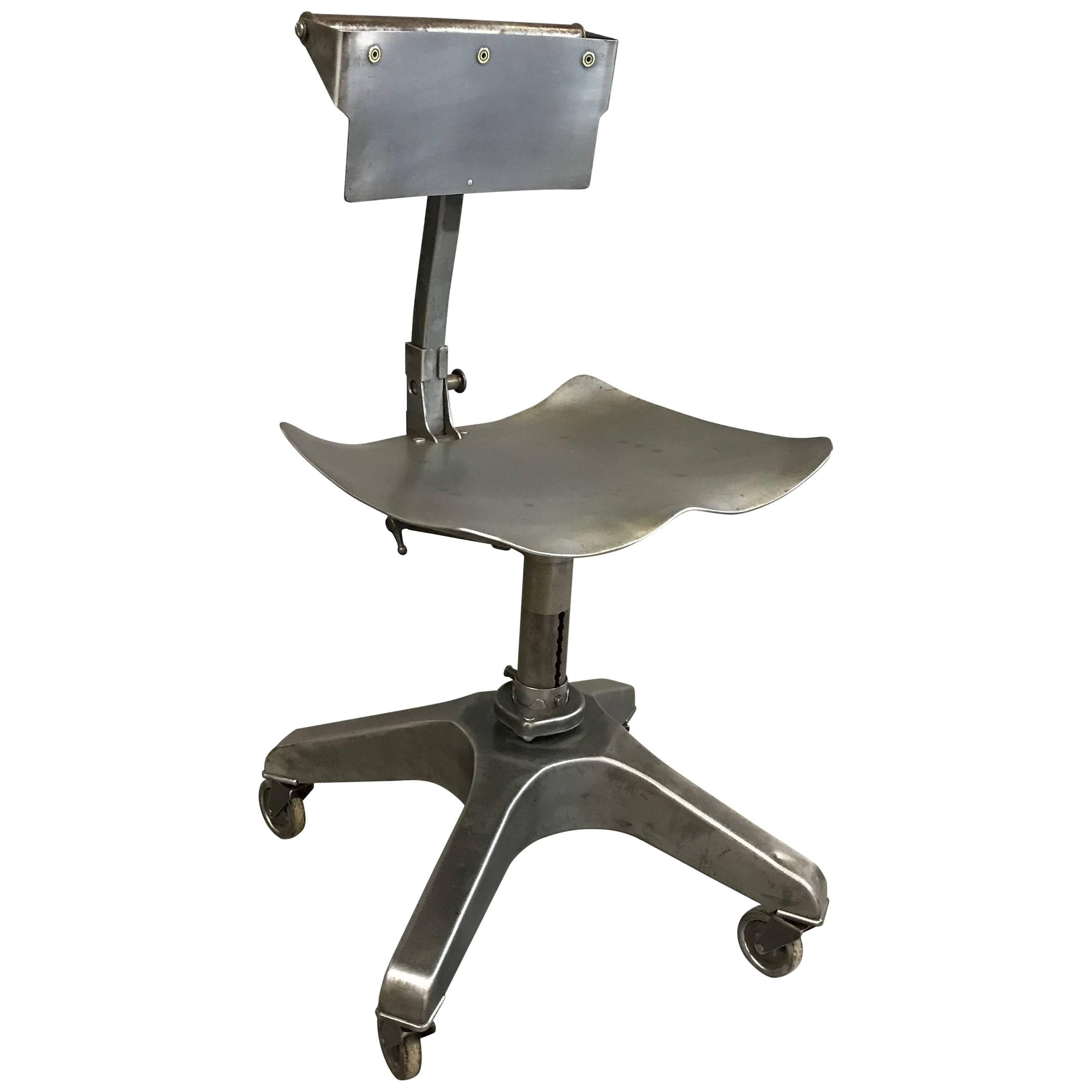 Industrial Steel Burroughs Adjustable Posture Office Chair For Sale  sc 1 st  1stDibs & Industrial Steel Burroughs Adjustable Posture Office Chair For Sale ...