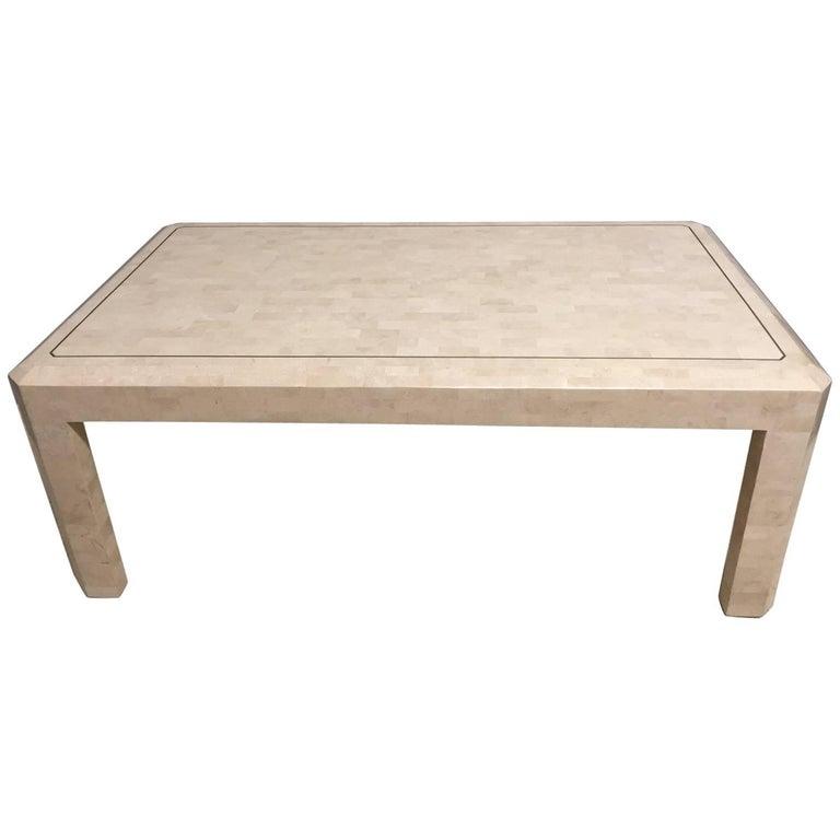Sleek Tessellated Stone Coffee Table By Maitland Smith