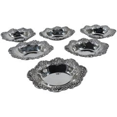 Set of Six Kirk Sterling Silver Nut Dishes
