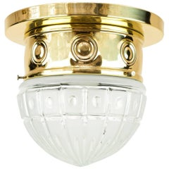 Art Deco Ceiling Lamp with Original Glass, circa 1920s