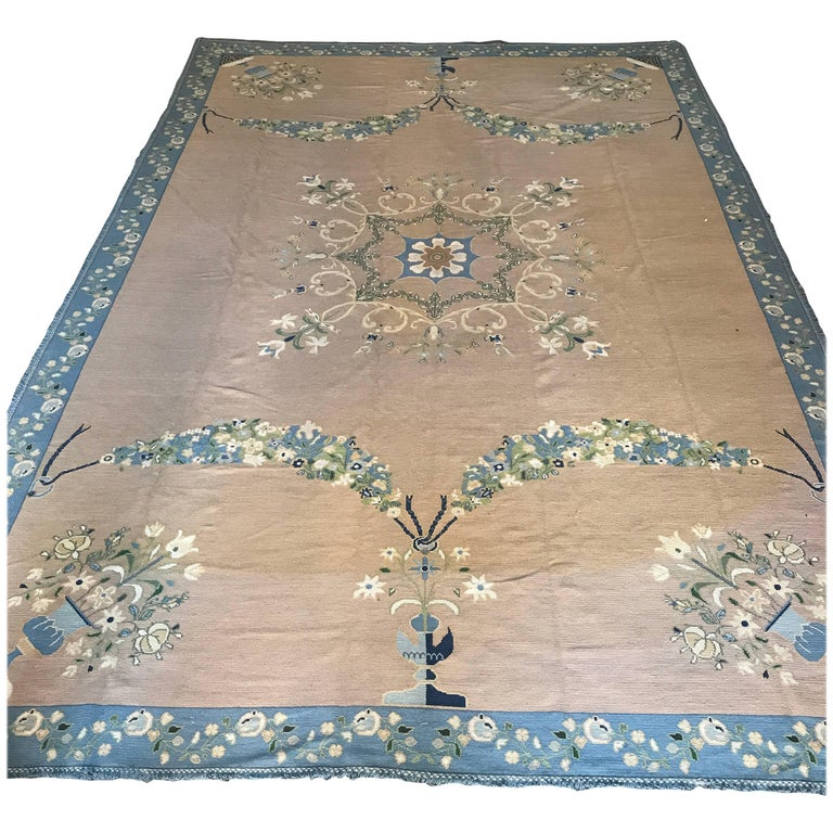 Fine Portuguese Needlepoint Rug from the Arraiolos factory, 1920s