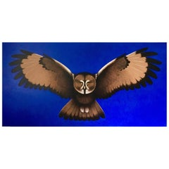 Owl, Original Painting by Lynn Curlee