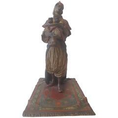 Early 20th Century Cold Painted Bronze Figure of an Arab Lady