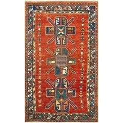 Antique 1880 Kazak Rug