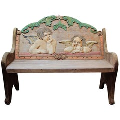 Antique Folk Art Bench