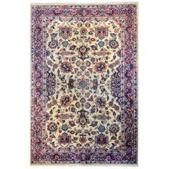 Exceptional Late 19th Century Sarouk Mohajeran Rug