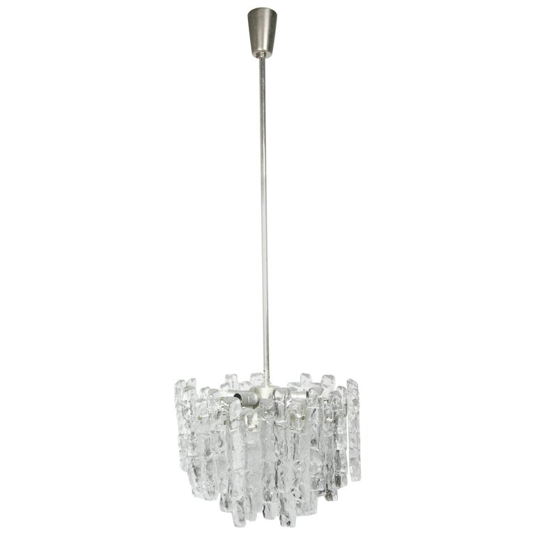 Kalmar Matte Ice Glass Chandelier
