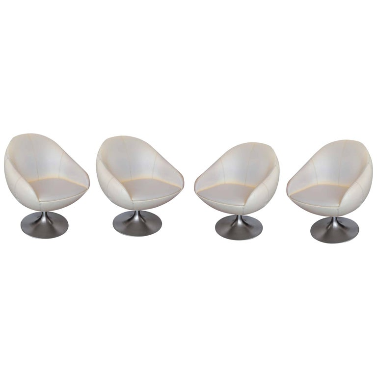 Wondrous Vintage Egg Chairs Set Of 4 Home Interior And Landscaping Synyenasavecom