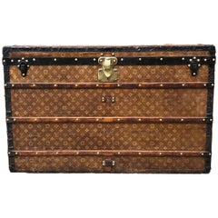 Antique Vintage Louis Vuitton Woven Monogram Steamer Trunk, circa 1901